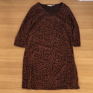 Liz Claiborne knit leopard dress petite medium